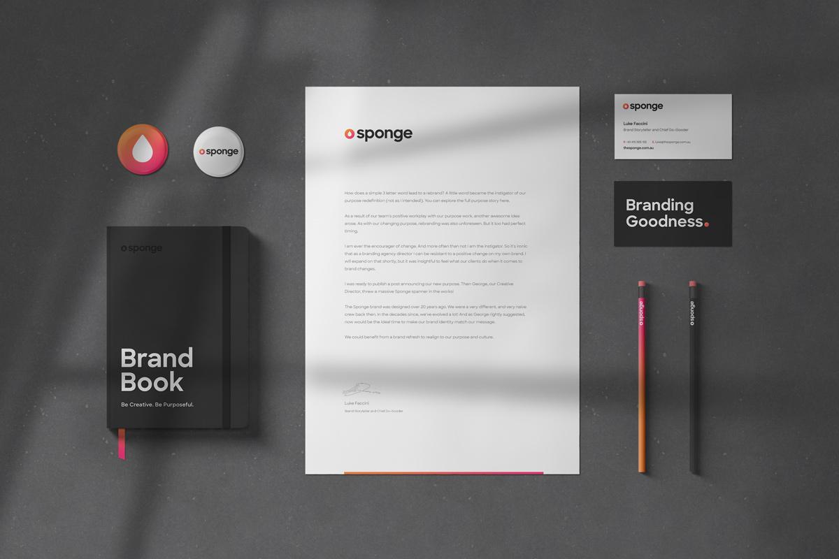 Sponge branding stationery
