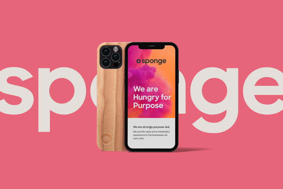 Sponge Branding Phone Layout